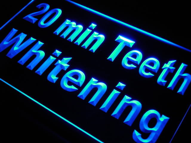 20 min Teeth Whitening Neon Light Sign